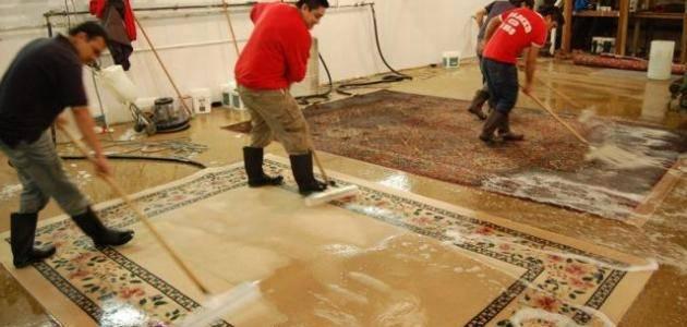 طريقة تنظيف السجاد from shehab-control.com